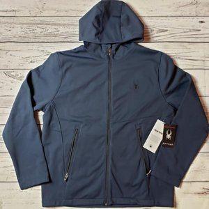 Spyder Soft Shell Hooded Full Zip Jacket Navy L